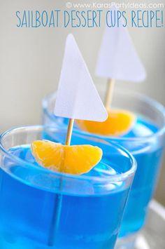 Nautical sail boat jello cups
