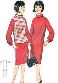 1960s Dress Pattern Butterick 3207 Loose Fitting by paneenjerez, $8.00