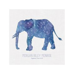 Little Painted Elephant by Melissa Kelman for Minted