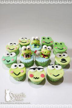 Sweetie Neko frog cupcakes