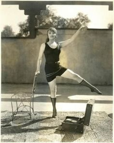 Before gyms and personal trainers, there was the Flapper, her Victrola and a patio chair.....
