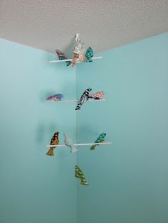Beans Blog: Everett's Nursery Projects Part One; I made this bird mobile using a great tutorial from Spool - link to the tutorial included in my post