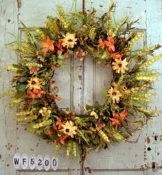Sunset Fields Fall Door Wreath