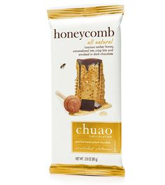Luscious amber honey, caramelized into crisp bits and enrobed in dark chocolate.