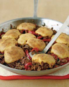 Cornbread-and-Beef Skillet Pie Recipe