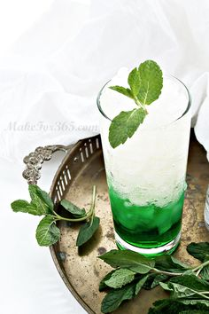Mint Ginger Melon Cocktail #drink #party #mint #summer