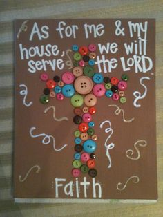 "Beautiful painting my daughter made :) EASY! Canvas, buttons, and paint pens;Can customize colors...11"" x 13"""