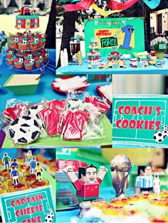 Anniversaire theme foot on pinterest soccer party - Idees deco table anniversaire ...