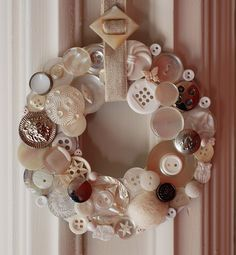 Button wreath by @Nicole Vaughan