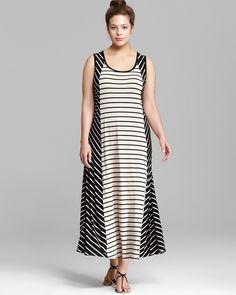 Calvin Klein Plus Bias Cut Maxi Dress | Bloomingdale's