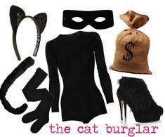 another last minute costume idea: cat burglar #halloween