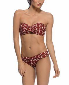 Robin Piccone Ikat Twist Bandeau Bikini