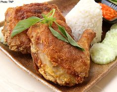 Ayam Penyet and sambal recipes