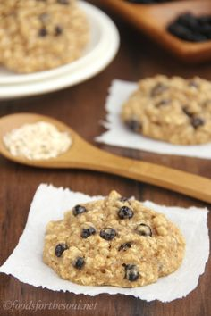 Blueberry Oatmeal Cookies | NO butter, refined flour, or refined sugar