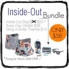 Inside Out bag bundle/ march