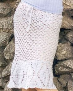 White Skirt free crochet graph pattern