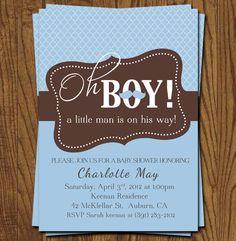 Baby boy shower invitation  mustaches little by olivepresspaper, $12.75