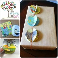 Eco Gift Wrap from Children's Books from the @FaveCrafts Blog! #recycle #tutorial #Christmas