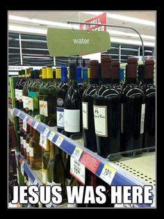 wine, jesus, funni, dark humor