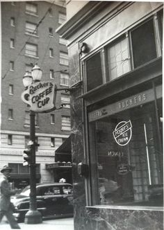 Rucker's Coffee Cup. Portland, OR. 1950s.