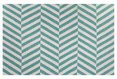 Sofia Flat-Weave Rug, Blue/Ivory on OneKingsLane.com