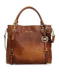 Michael Kors Bedford Ostrich Tote Handbag