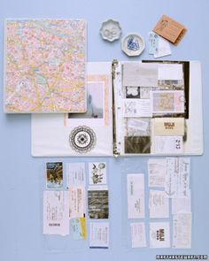 Travel Scrapbook cheat: Use plastic sleeves instead of glue.