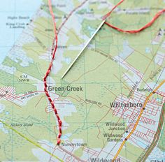 Stitched Map - Vacation Memories