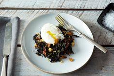 egg recipes, dinner, poach egg, slow food