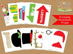 CHRISTMAS Photobooth Props printable  INSTANT by UponATimeDesigns, $4.20
