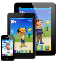 Kid Weather is an Educational Weather App for iPhone, iPad, and Android