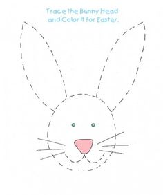 Easter bunny tracing activity! Find and print this on www.ziggityzoom.com