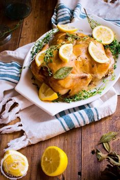 9. Slow Cooker Lemon-Thyme Chicken