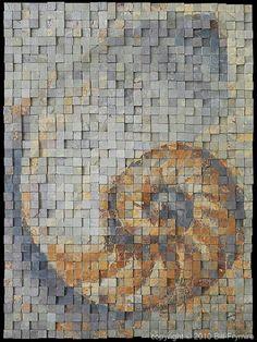 mosaic sculptur, shades, sculptures, contemporari mosaic, mosaics, maps, rock art, nautilus, blog