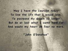John O 'Donohue on the courage to write, Irish blessing
