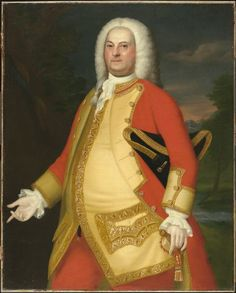 John Singleton Copley, William Brattle (1706-1776), 1756, Harvard Art Museums/Fogg Museum.