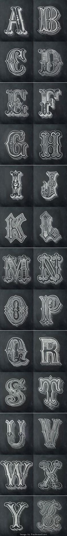 chalk alphabet, chalk lettering alphabet, antonio rodrigu, rodrigu jr, chalk design