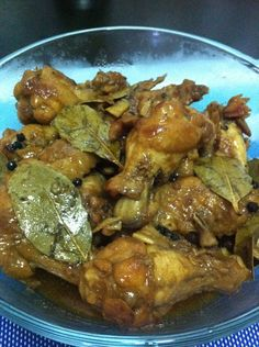 How to Cook Chicken Adobo-Olive oil, light soy sauce, vinegar, black ...