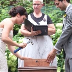 Write love letters too each other and place in a box with a bottle of wine. Nail it shut during the ceremony. When you have your first big fight, open up the bottle of wine. Go in separate rooms and remember why you're together in the first place