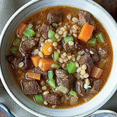 Barley and Beef Soup | CookingLight.com