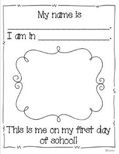 My First Day of School- A Keepsake Book - I can design similar to go with classroom theme.
