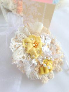Fiber Art Brooch Jewelry Mothers Day Victorian by LollysCubbyHole, $14.00