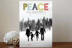 Modern Headline Holiday Postcards by Jody Wody | Minted