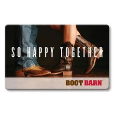 Boot Barn® So Happy Together Gift Card  #valentinesday #gifts