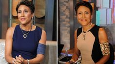 PICC Cover Fashions - Robin Roberts appears on Good Morning America on July 18, 2012 and July 25, 2012. Shown (on right)  wearing 'Cheetah' PICC Cover Fashions TM arm band sleeve by Cast Cover Fashions.  Photo provided courtesy of ABC / Ida Mae Astute