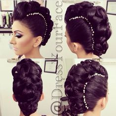 Amazing Mohawk Updo - LOVE this, brings me back to the days of banana clips!!
