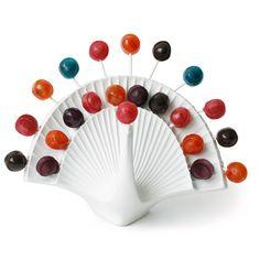 Peacock Lollipop Holder::Jonathan Adler