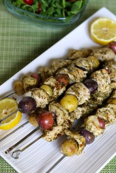 Potato and Chicken Pesto Kabobs