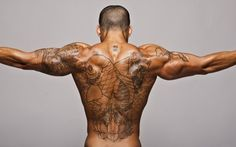Hot Tattooed Guys – Sexy Back Tattoo Outlined…