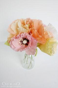 DIY Crepe Paper Poppies Tutorial from Jones Design Company